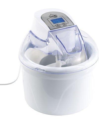 Rosenstein & Söhne Glacemaschine: 4in1-Eismaschine EMA-300 mit LCD-Display, für 1,5 Liter Speiseeis, 7 W (Eismaker)