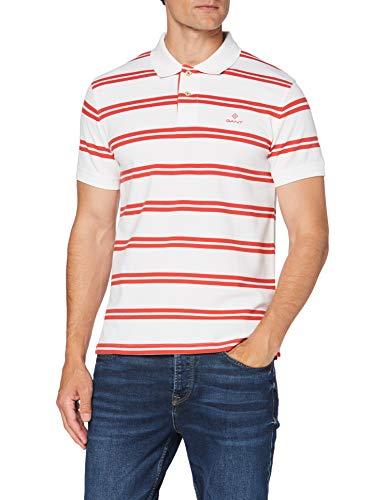 GANT Herren D1. Contrast Stripe Collar Polohemd, White, S