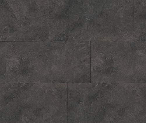 HORI® Klebe-Vinylboden Steinfliese anthrazit Münster massiv I für 11,96 €/m²