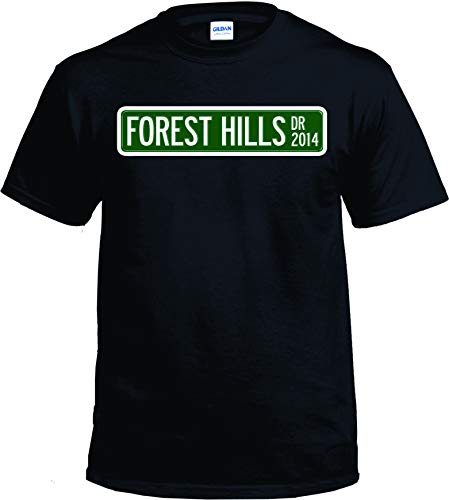 J Cole Forest Hills t Shirt for The Best Fans Ready to go to The Concert (Black, 3XL)