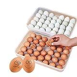 YYLH Caja Clara de Huevos de 34 Cuadricula con Una Sola Capa Contenedor de Alimentos Huevo Cesta de Organizador de plastico Caja de almacenaje Caja