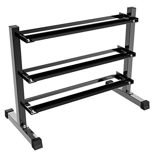 YAHEETECH Horizontal Dumbbell Rack Multilevel Weight Storage Stand