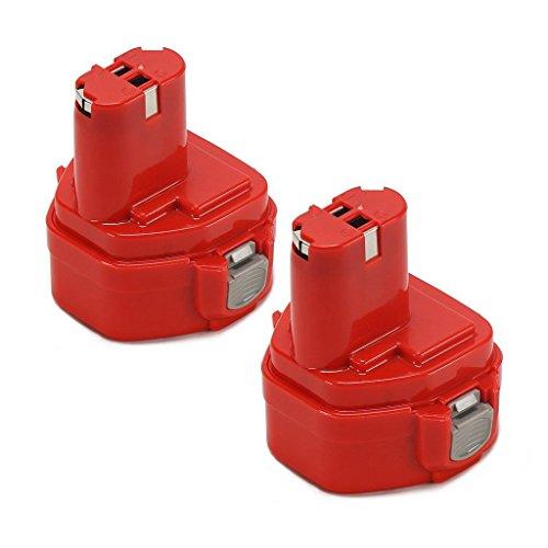 2 pezzi 12.0V 2000mAh 12V 2.0AH 1220 Ni-MH batteria(rosso) ricambio batteria di ricambio–batteria per Makita Utensile Elettrico 12 V 2.0 ah1222 1220 12001230 1233 1234 1235 compatibile con Makita.