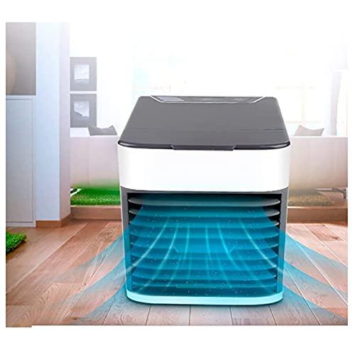 YANRU Aire Acondicionado con Hielo - FáCil De Limpiar Cubo Aire Acondicionado - ProteccióN del Medio Ambiente Ventilador con Agua, para Cualquier HabitacióN, Oficina, Viajes, Camping