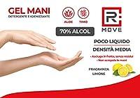 RMOVE gel igienizzante mani 5 litri +2 flaconi da 200ml in OMAGGIO 70% ALCOL gel mani profumato al limone arricchito con olii essenziali di Aloe e Timo tanica 5 litri #3