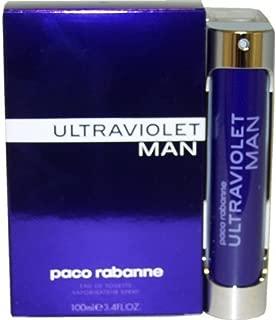 Ultraviolet Men Eau-de-toilette Spray by Paco Rabanne, 3.4 Ounce