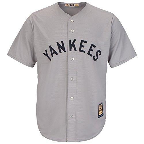 Majestic MLB Cool Base Trikot New York Yankees grau Cooperstown Baseball Jersey (S)