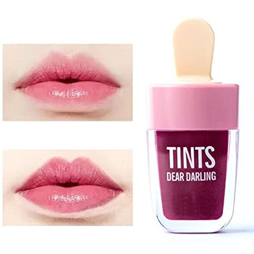 Maquillaje Ice Cream Lip Glaze coreana Tinted Lip Gloss aceite Hidrata Belleza...