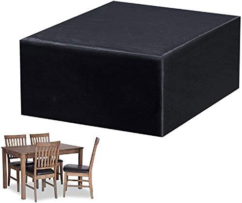 Dalkey123 Funda para Muebles Jardín, Funda Impermeable, Prueba Polvo y Protección UV, 250×250×90cm, para Mesas y Sillas Cuadradas Exterior, Bancos, Sillas Ratán