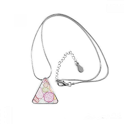 DIYthinker Bunte Mikroskop Zellen Struktur Biological Illustration Dreieck-Form Halskette Schmuck mit Kette Dekoration Geschenk