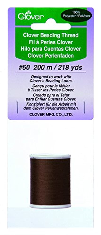 Clover 9914 Beading Thread, 60/218-Yard, Brown