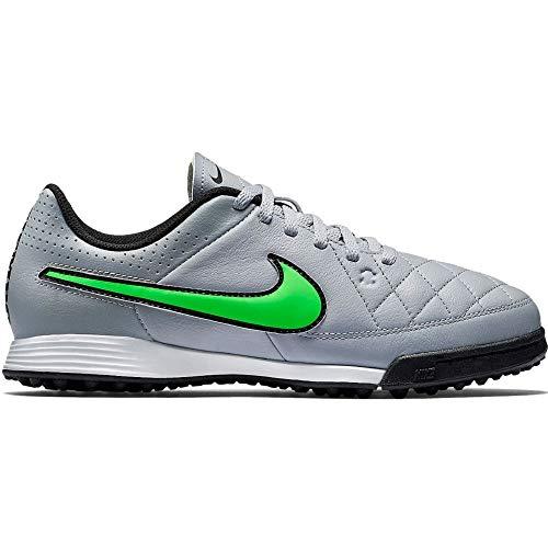 Nike JR Tiempo Genio Leather TF Black/SPRNG Leaf-CRG KHK-White - 36,5