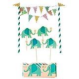 Rex International Kuchendekoration Wimpelkette Aufsteckmotive Tortenschürze Elvis der Elefant