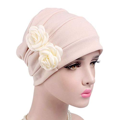 Lurrose Gorra Acanalada para Mujer Gorra Chemo para Diadema Gorro Elegante para...