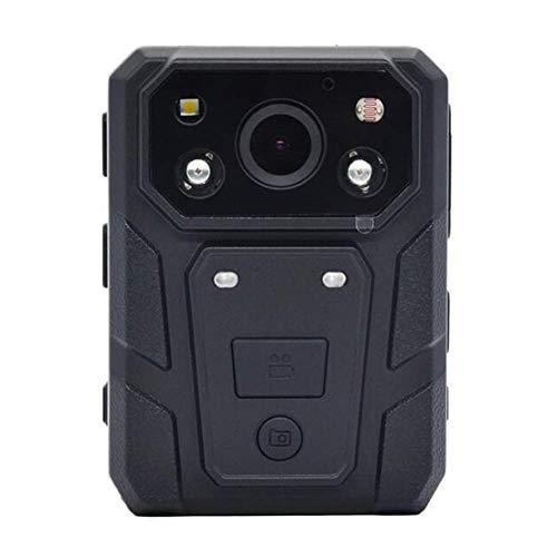 Police Body Camera Cámara con cámara HD de 1080p, 64GB de Almacenamiento Visión Nocturna IP66 Impermeable a Prueba de Golpes con luz de Advertencia, Zoom óptico 16x