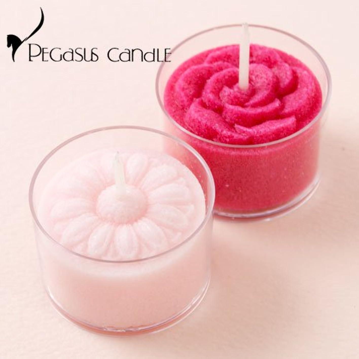 近々急いでマイク花暦マーガレット?バラ花の形のキャンドル2個セット(無香タイプ)ペガサスキャンドルFlower shaped candle