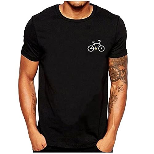 Nuevo 2021 Camiseta Hombre Verano Manga corta Impresión de bicicletas Moda Casual T-shirt Blusas camisas...