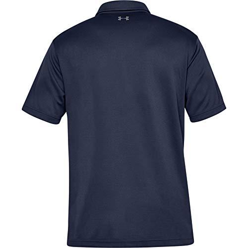 Under Armour T-shirt Tech Polo - manches courtes pour homme - Bleu (Midnight Navy) - FR : XL (Taille...