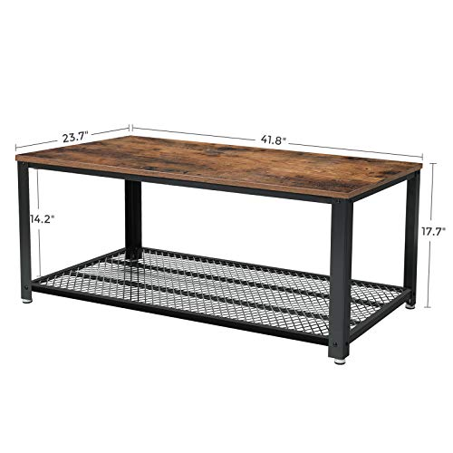 VASAGLE-Industrial-Coffee-Table-with-Storage-Shelf-for-Living-Room-Wood-Look-Accent-Furniture-with-Metal-Frame-Easy-Assembly-Rustic-Brown
