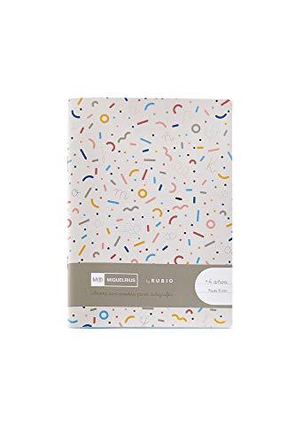 Miquelrius cuaderno con grapa By Rubio formato 4º Pauta Montesori 8 mm