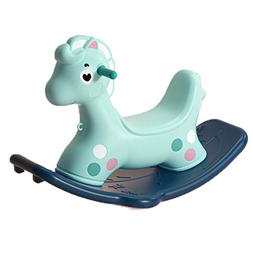Pink Rocking Chair for Baby Horse for Children Ride-On Babies Rocking Horse Safe And Reliable Rocking Pony Birthday Present for Kids Large Chassis Baby Swaying Horse