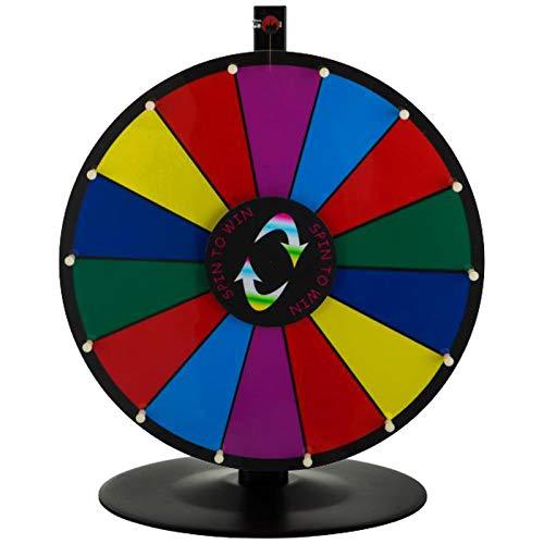 VEVOR Ruota del Premio da Tavolo 18 Pollici Ruota a 14 clicker con Basamento Tondo per Slot modificabile Fortune Design Carnival Spin Game