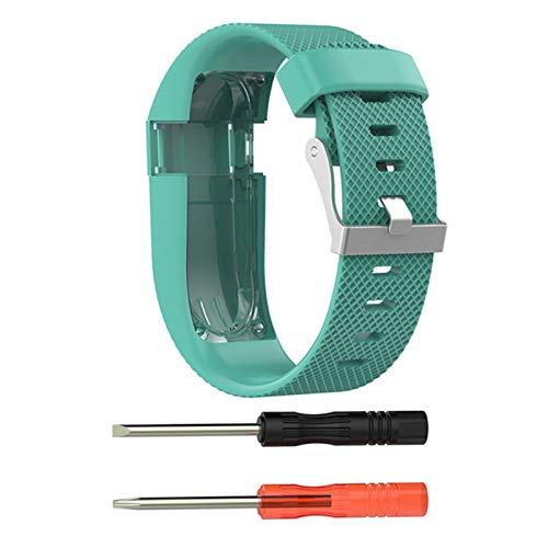 XUEMEI Reloj Banda Correas De Muñeca para Care HH SmartWatch Banda Silicona Metal Hebilla Reemplace La Correa De La Pulsera para Cargar HR (Color : Mint Green, Size : S)