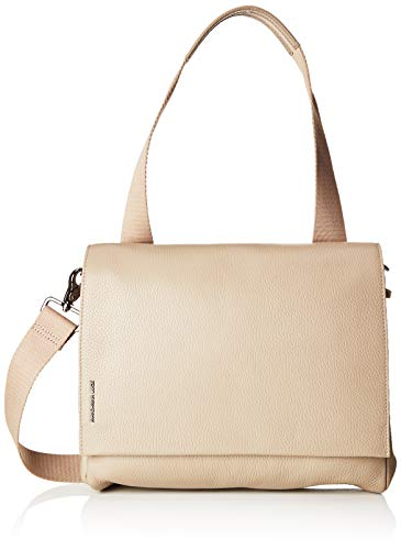 Mandarina Duck - Mellow Leather Tracolla, Bolsos de mano Mujer, Beige (Simply Taupe)