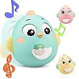Lanero Roly Poly Stehaufmännchen Spielzeug für Babys und Neugeborene Beißring