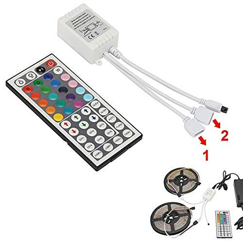 SUPERNIGHT RGB Light Strip Remote Controller, 2-in-1 4 Pin Dimming Dimmer Brightness Flash Mode Control Options for LED Tape Light,12V DC LEDs Rope Lighting