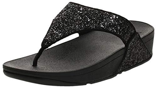 FitFlop Lulu Glitter Toe-Thongs, Sandalias de Punta Descubierta Mujer