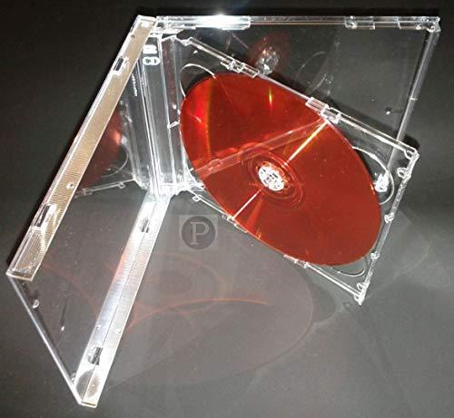 Panmer - Cajas dobles para CD (5,2 mm, 5 unidades), transparente