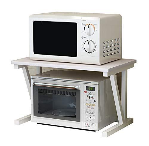 Yingpai-Microwave oven rack Soporte para Horno De Microondas De Pie, Estante De Cocina De 2 Capas, Encimera De Tablero De PartíCulas, Marco De Acero Pintado, Carga Fuerte, InstalacióN Gratuita