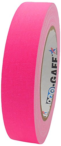 Pro-Gaff RS127PK24X25 - Cinta adhesiva fluorescente (24 mm x 25 m), color rosa fluorescente