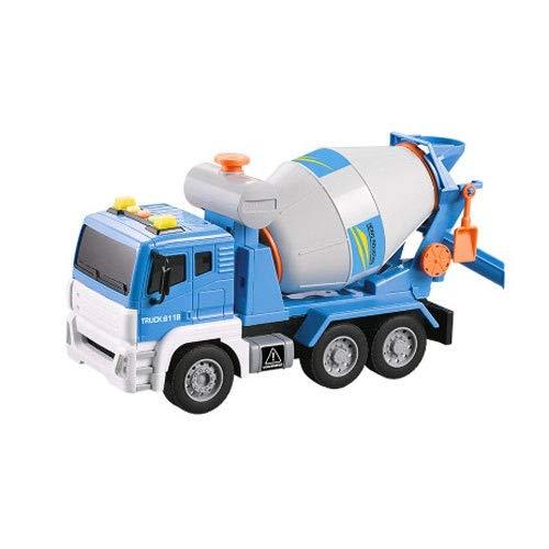 Xolye Großer Zementmischer Spielzeug Early Education Puzzle Klang und Licht Spielzeug Auto Boy Boxed Spielzeug Auto Geburtstagsgeschenk Beton Tank LKW Pumpe Truck Engineering Truck (Color : Blau)