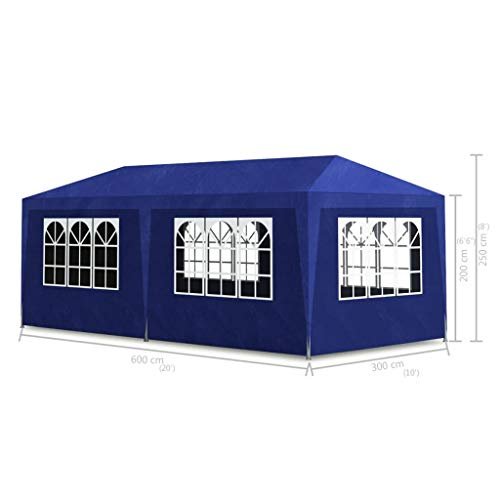 Portable Party Tent, Instant Folding Shade, Heavy Duty Outdoor Gazebo Blue for Outdoor Parties 10'x20' Blue