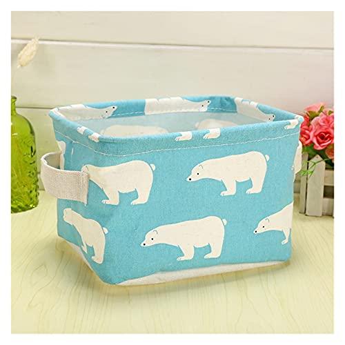 ONETOTOP Bebé Juguetes Caja de Almacenamiento Ropa Sucia Almacenamiento Canasta/Escritorio/Maquillaje Organizador Bucket Breve Bolsa de lavandería para baño (Color : S4 20x16x13cm)