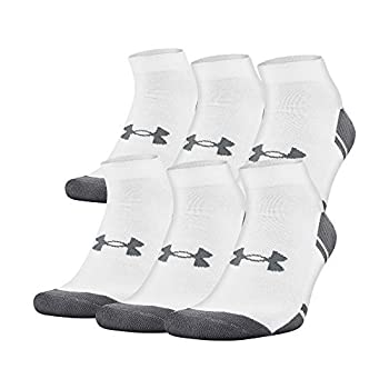 Under Armour Adult Resistor 3.0 Low Cut Socks  6 and 12 Pack   White/Graphite  6 Pack   Large