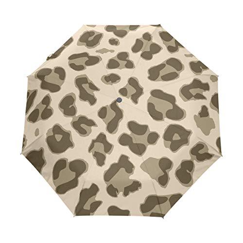 DEZIRO Leopard Print Goedkope drievoudige Outdoor?Paraplu?auto open Waterdicht