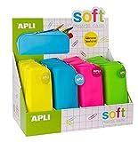 APLI- Estuches, 1 Unidad [Colores Surtidos] (16300)