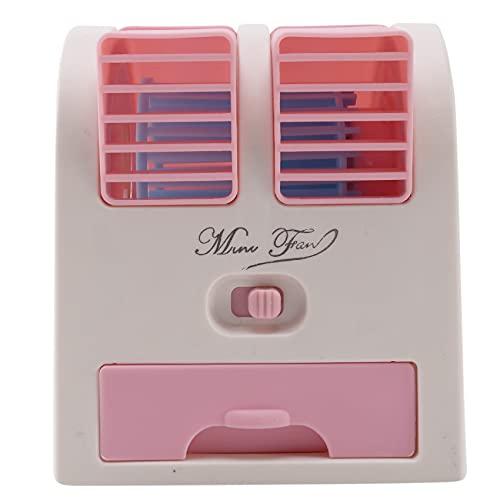 Baalaa Usb piccola ventola di raffreddamento portatile desktop doppio senza lama condizionatore d'aria - rosa