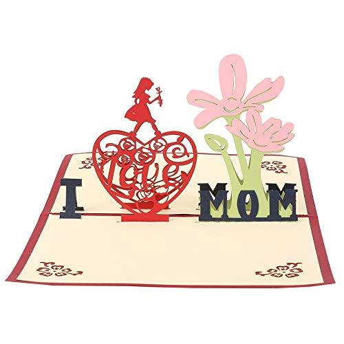 Muttertagskarte,Papier Muttertag,Geburtstagskarte für Mama Special, 3D Pop-up-Grußkarte mit schönen Papier-Cut, Bestes Geschenk für Mama Geburtstag, inklusive Umschlag