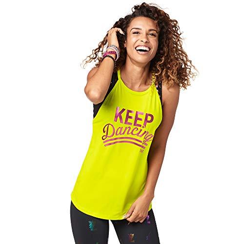 Zumba Women Fitness-mit Grafikdruck Activewear Loses Workout Tank Top, Small Tanktops, Greenish