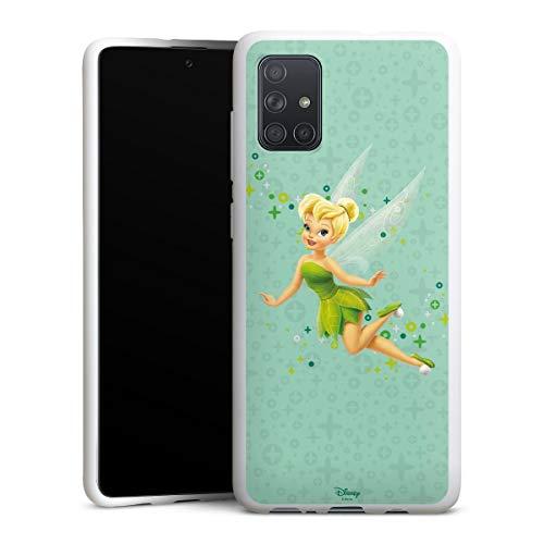 DeinDesign Silikon Hülle kompatibel mit Samsung Galaxy A71 Case weiß Handyhülle Tinkerbell Offizielles Lizenzprodukt Disney