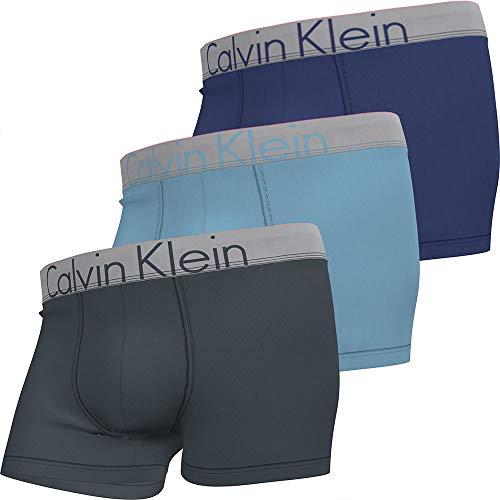 Calvin Klein Trunk 3PK Maillot, hémisphère, Hortensia, Pied Violet, L Homme