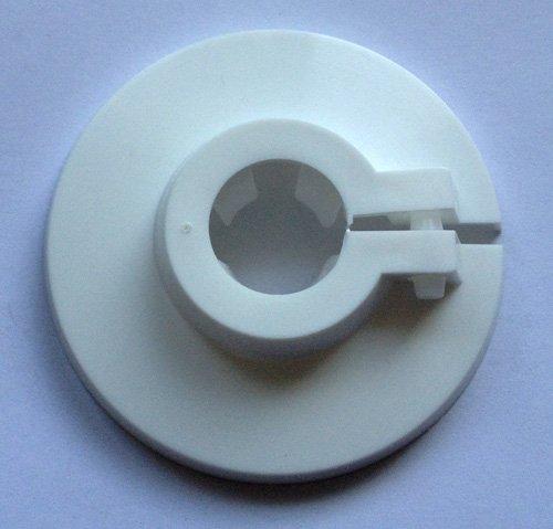 Flamco Rosette für Rohraußendurchmesser 15mm Einzelrosette, Heizkörperrosette, Rohrabdeckung, Klickrosette