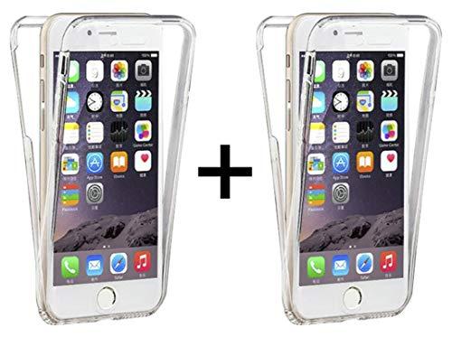 TBOC 2X Funda para Apple iPhone 7 - iPhone 8 [4.7'] [Pack: 2 Unidades] Carcasa [Transparente] Completa [Silicona TPU] Doble Cara [360 Grados] Protección Integral Delantera Trasera