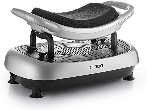 EILISON FITABS Vibration Plate Exercise Machine - Body Vibration Platform Machine with Handles - Whole Body Vibrarating Machine for Shaping, Recovery, Weight Loss, ABS & Fit Massage(Double Seat)