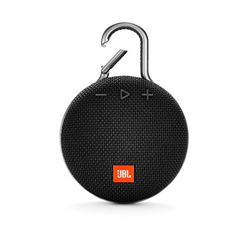 JBL Clip 3 Ultra-Portable Wireless Bluetooth Speaker with Mic (Black)