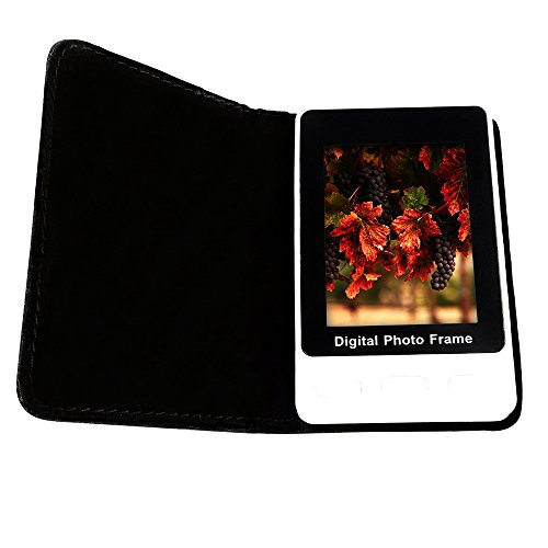 Digital Photo Frame Mounted in Pocket Size Wallet, 2.4 Inch LCD, Holds 60 Photos.